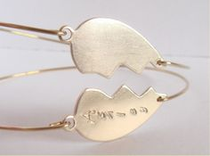 Personalized best friends bangles set   Best friends by Cecileis, $28.00