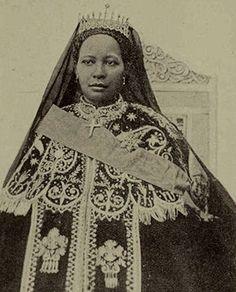"""Zewditu I of the House of Solomon, the """"Queen of Kings"""", Empress of Ethiopia (1876 – 1930)"""