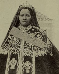 """Zewditu I of the House of Solomon, the """"Queen of Kings,"""" Empress of Ethiopia (1876 – 1930)"""