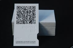 Undisclosable letterpress business card with QR code Qr Code Business Card, Letterpress Business Cards, Name Card Design, Plastic Card, Illustrations And Posters, Name Cards, Coding, Graphics, Prints