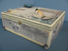 Here is another altered cigar box that I created using the Authentique Genuine Line!