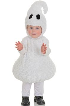 Friendly Ghost Toddler Costume for Halloween - Pure Costumes
