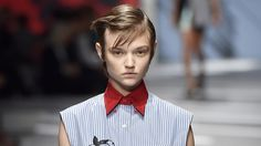 Prada finds its latest star in the form of Pasha Harulia, a Ukrainian beauty with charm to spare.