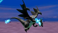 """And here's Mega Charizard X. This will appear as Charizard's Final Smash."""