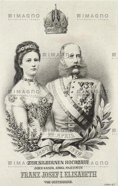 Sisi und Franz Joseph - Gedenkblatt zur silbernen Hochzeit, © IMAGNO/Austrian Archives