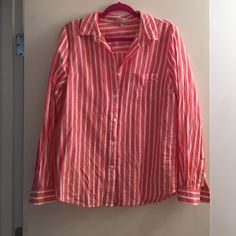 Joan Vass linen button down Great colors and lightweight for summer! Joan vass Tops Button Down Shirts