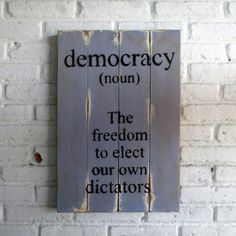 demokrasi.  Spray stencil on wood. 40 x 60 x 2 cm  #woodsign #homedecoration #homeandliving #vintage #alldecos #democracy