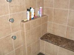 Shampoo Shelf & Bench with countertop