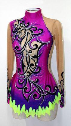 purple rhythmic leotard by www.paintyourdream.it