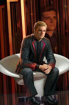 Peeta - The Hunger Games Hunger Games Book Series, Hunger Games Pin, Hunger Games Fandom, Hunger Games Catching Fire, Hunger Games Trilogy, Hunger Games Crafts, I Volunteer As Tribute, Mockingjay, Good Movies