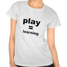 Play Equals Learning T Shirts does that includes mmorpg gaming? Daycare Ideas, All Things Purple, Trendy Tops, Sweet Tooth, Gaming, Advice, Tech, Teaching, Play