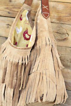 DIY Suede Fringe Bag via lilblueboo.com