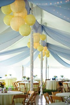 Yellow Paper Lanterns for your wedding #paperlanterns #wedding
