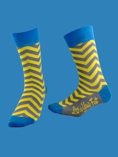 The Zig-n-Zag from Love Your Feet Socks.  Fun, stylish, colorful dress socks for men and women, designed in Los Angeles, California and made from premium Turkish cotton.  Available for $11 a pair from LYFsocks.com
