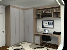 quarto com escritório pequeno - Google Search