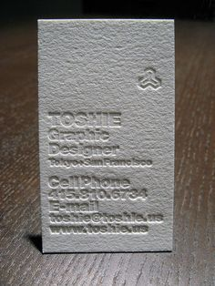 Business card by Alexandra Daley of dolcepress