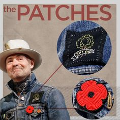 The Tragically Hip frontman has made double denim his own through a number of personal adornments. Canadian Things, I Am Canadian, Order Of Canada, O Canada, The Man Machine, David Johnston, Poppy Pins, Canadian Culture, Canadian Tuxedo