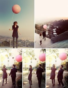 One Pink Balloon  An Engagement Shoot in LA