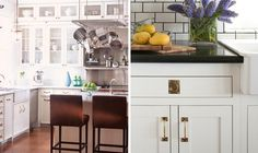 Peonies + Brass: brass obsessed: hardware styles for the kitchen