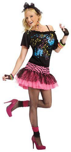 Costumes For All Occasions FW122564ML Medium-Large 80s Pop Party Adult 10-14: Amazon.co.uk: Toys & Games