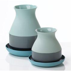 Bat Trang Vase M - Blue by Arian Brekveld