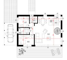 Dom modułowy CONTi1. Dom z modułów, paswyny. CONTiBOX Floor Plans, Diagram, Floor Plan Drawing, House Floor Plans
