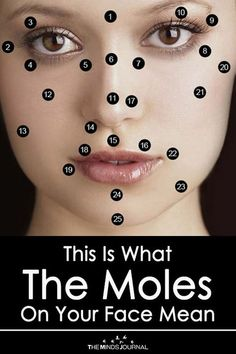 """Reading moles on the face is an old science. The earliest roots of mole reading are found in the century.This Is What The Moles On Your Face Mean""""}, """"http_status"""": window. Moles On Face, Skin Moles, Mole Meaning, Chinese Face Reading, Cancerous Moles, Mole Tattoo, Tattoo On Face, Skin Growths, Acupuncture"""
