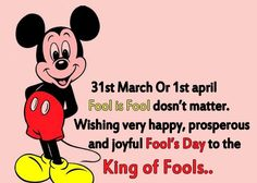 Is it March 31st today or April the 1st,  hehehehe