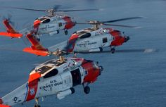 US Coast Guard MH-60 Jayhawk rescue helicopters.