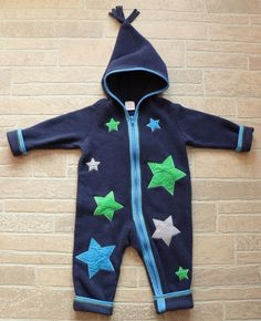 b95ecb56a Hanna Andersson Toddler Boys 80 US 2 Blue Stars Fleece Bunting Zip Up  Snowsuit #HannaAndersson