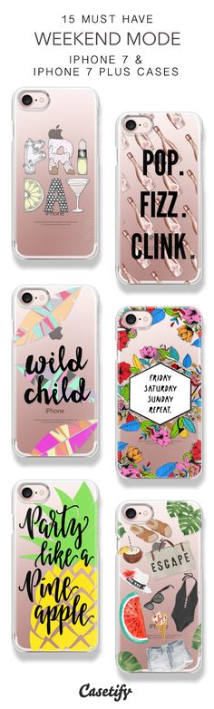 15 Must Have Weekend Mode Protective iPhone 7 Cases and iPhone 7 Plus Cases. More Party Vibe iPhone case here > https://www.casetify.com/collections/top_100_designs#/?vc=5Wdbsv56pW