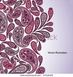 Paisley Oriental decor background. Vector illustration.