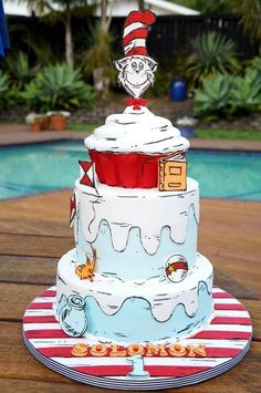Cat In The Hat - by Rosy Cakes by Jessica Atkins @ CakesDecor.com - cake decorating website