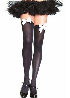 d5fffbab6 New Lingerie Hosiery Black sheer thigh high Stockings one size fits  more Black sheer