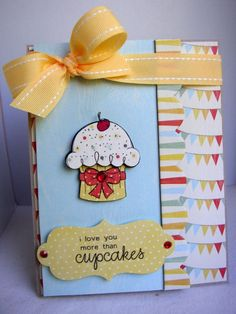 {more than CUPCAKES} stamp of the week from unity stamp company - card created by Unity Design Team Member Stephanie Muzzlin