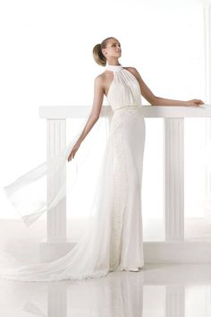 High Collared Wedding Gowns