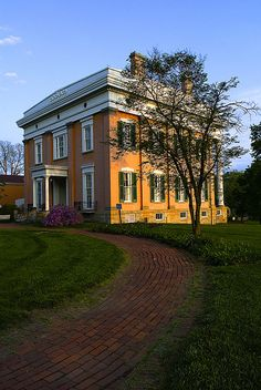 JFD Lanier Mansion, located in Madison Indiana, Civil War Era Mansion - by Bernie Kasper