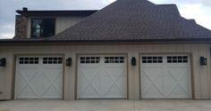 Garage Door Colors, Garage Door Styles, Garage Door Design, Carriage House Garage Doors, Carriage Doors, Faux Wood Garage Door, Residential Garage Doors, Garage Door Makeover, Contemporary Doors