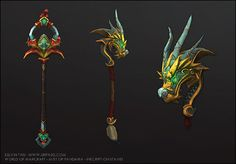 Mist of Pandaria - Staff, Kelvin Tan on ArtStation at http://www.artstation.com/artwork/mist-of-pandaria-staff