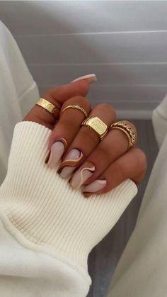 Classy Acrylic Nails, Acrylic Nails Coffin Short, Almond Acrylic Nails, Coffin Nails, Autumn Nails Acrylic, Fall Almond Nails, Neutral Acrylic Nails, Natural Looking Acrylic Nails, Classy Almond Nails