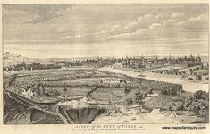 Antique (1759) View of Paris, France- A great gift idea! This piece is available in our shop and via our secure website.