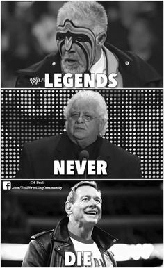 Ultimate Warrior, American Dream dusty Rhodes, and Rowdy Roddy Piper. Please excuse me while I cry.