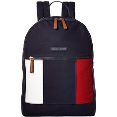 Tommy Hilfiger TH Flag Canvas Backpack (Tommy Navy) Backpack Bags (830.135 IDR) ❤ liked on Polyvore featuring bags, backpacks, navy backpack, canvas bag, navy blue backpack, navy blue bag and blue canvas backpack