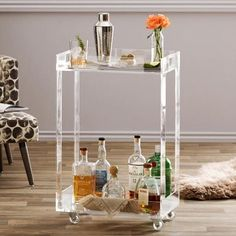 Lucite Home Decor & Furniture Trend   Clear furniture and accessories are visually light, as we've said 100 times before, making them great small space additions. They go with everything, since they have no color of their own, unless they're tinted—which is also a pretty rad look in the right room. Stylistically, it's kind of the same story. Acrylic decor is a chameleon, so it'll vibe with pretty much any style decor.