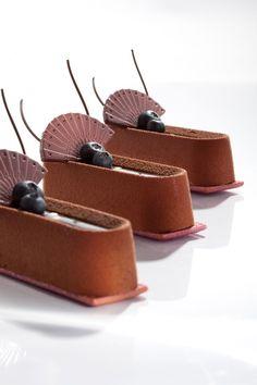 Chocolate y arandanos