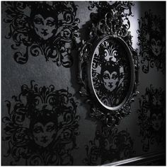 Disney goes dark.... could be strikingly beautiful in a room done in all black, and silver.... and greys, for an adult fan of Disney....