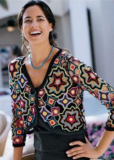 Crochet Bolero or short jacket. Crochetemoda, #free #crochet #pattern <3 ceruleana <3