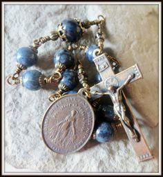 Mens Miraculous Single Decade Pocket Rosary by MorningStarRosaries
