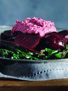 salata patzaria me roz skordalia_slider Salad Bar, Types Of Food, Sliders, Dips, Steak, Salads, Paleo, Ice Cream, Favorite Recipes