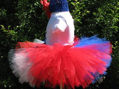 July 4th patriotic tutu and headband in sizes up by sophiastutus, $26.00